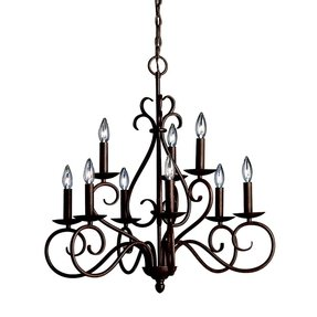 Round candle chandelier foter norwich 9 light electric candle chandelier aloadofball Choice Image