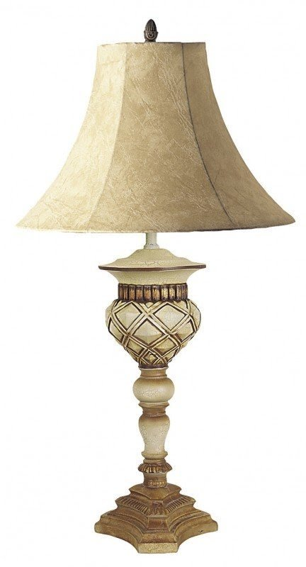 "Ornate 32"" H Table Lamp with Bell Shade"
