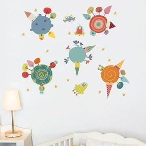 Piccolo Planets Wall Decal