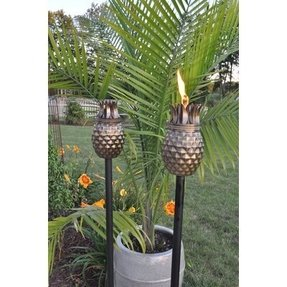 Pineapple Tiki Torch (Set of 2)