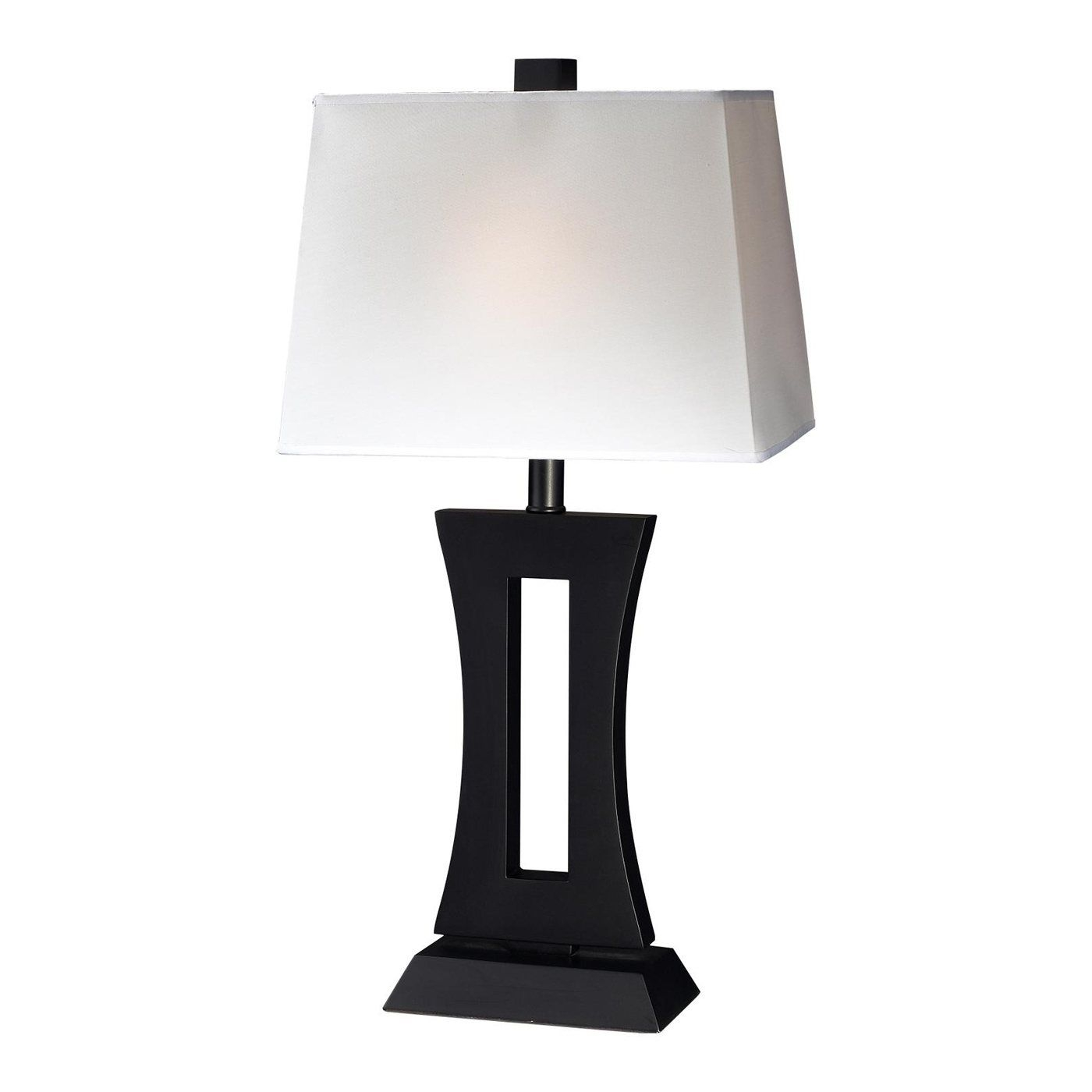 "Portable 18"" H Table Lamp with Rectangular Shade"