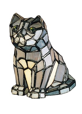 "Sassy Cat 7"" H Table Lamp with Novelty Shade"