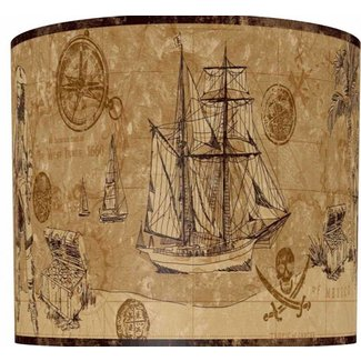 Serious Pirates Drum Lamp Shade