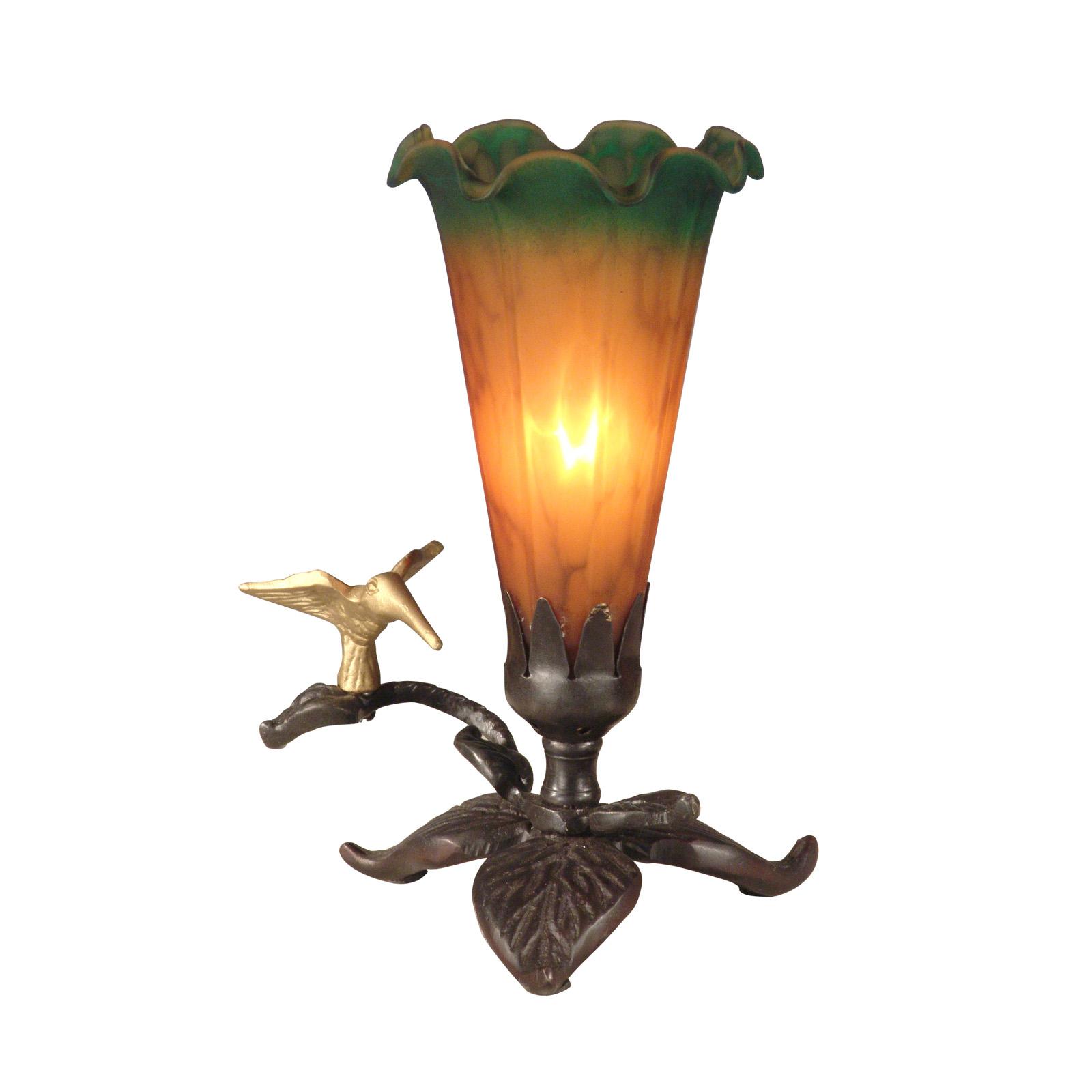 "Tiffany Lily 7.25"" H Table Lamp with Novelty Shade"
