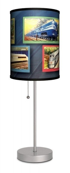 "Transportation Trains 20"" H Table Lamp with Drum Shade"