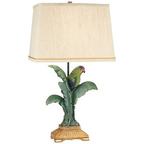 "Tropical Parrot 30"" H Table Lamp with Empire Shade"