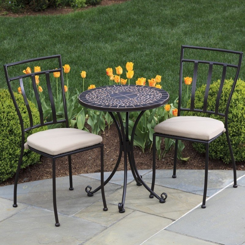 Vulcano Mosaic Bistro Set & Mosaic Bistro Table Set - Foter