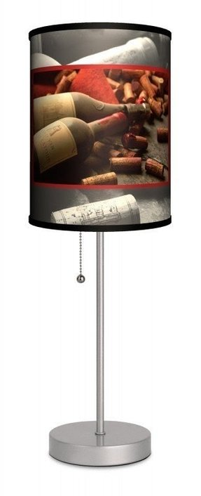 "Wine Bottles with Corks 20"" H Table Lamp with Drum Shade"