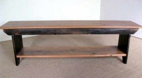 Barn Wood Plank Bench With Shelf Farmhouse Dining Benches