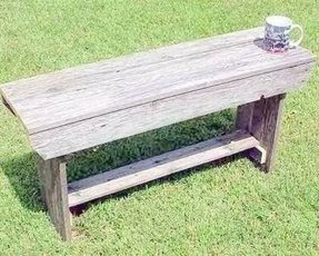 Barnwood farmhouse bench