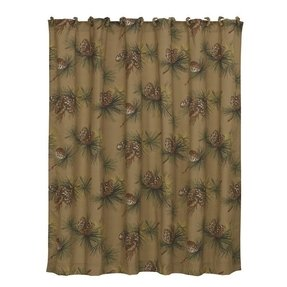 Crestwood Polyester Pinecone Shower Curtain