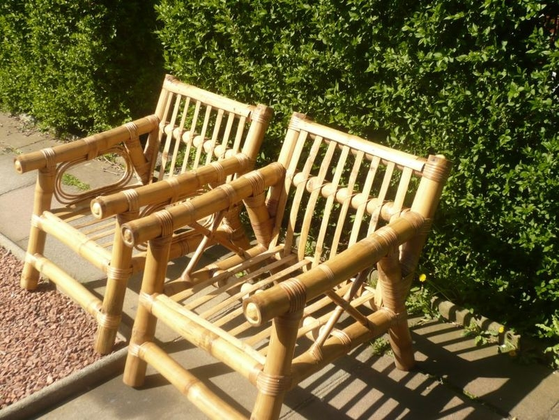 Furniture Evalasting African Bamboo Garden Conservatory Chairs