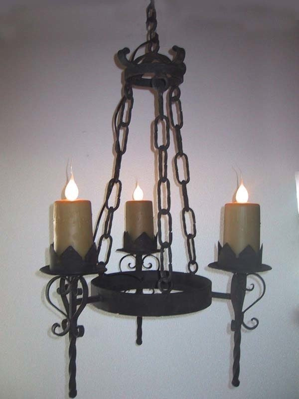 Gothic 3 Light Chandelier