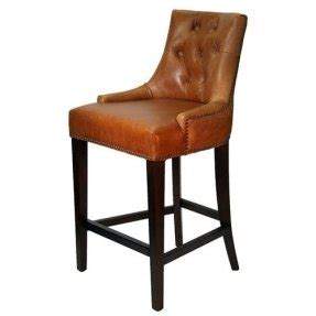 Etonnant Leather Top Grain Bar Stools 1