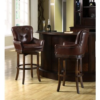 Leather top grain bar stools 4