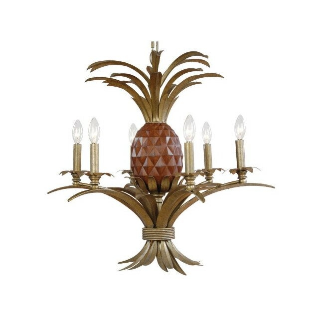 Pineapple 6 Light Candle Chandelier
