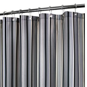 Grey White Striped Shower Curtain. Prints Strings Stripe Shower Curtain Fabric  Foter