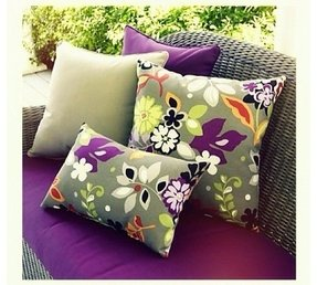 Purple patio cushions 2