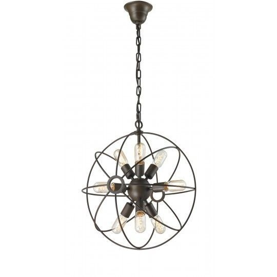 Sputnik 9 Light Crystal Chandelier