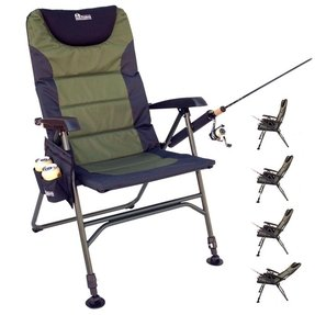 Ultimate outdoor adjustable fishing chair with adjustable legs 1