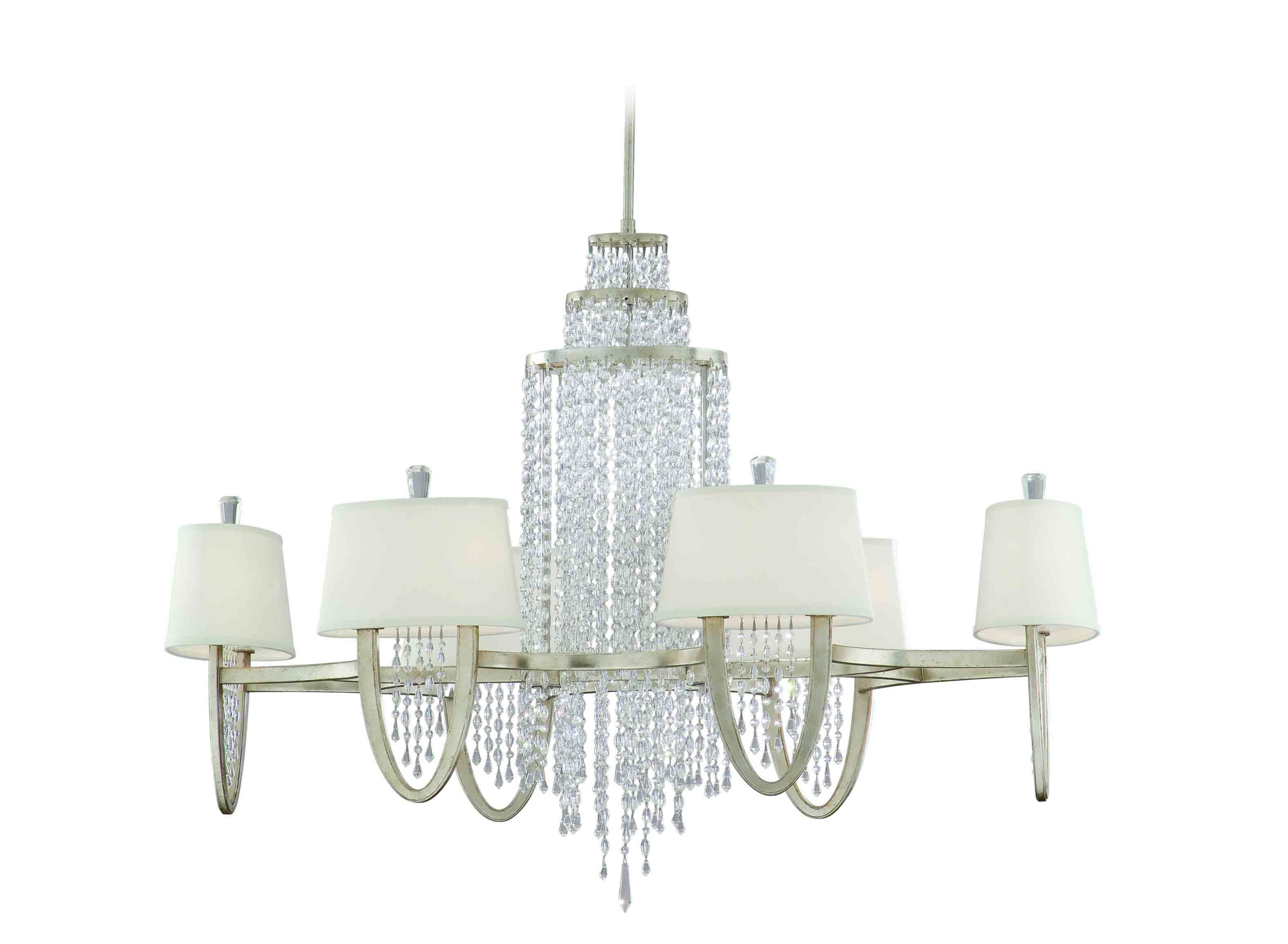 Viceroy Silver Leaf Chandelier