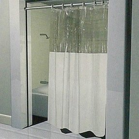 Vinyl Window Shower Curtain