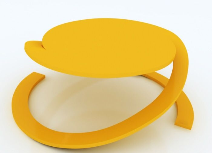 Yellow Unique Coffee Table Design