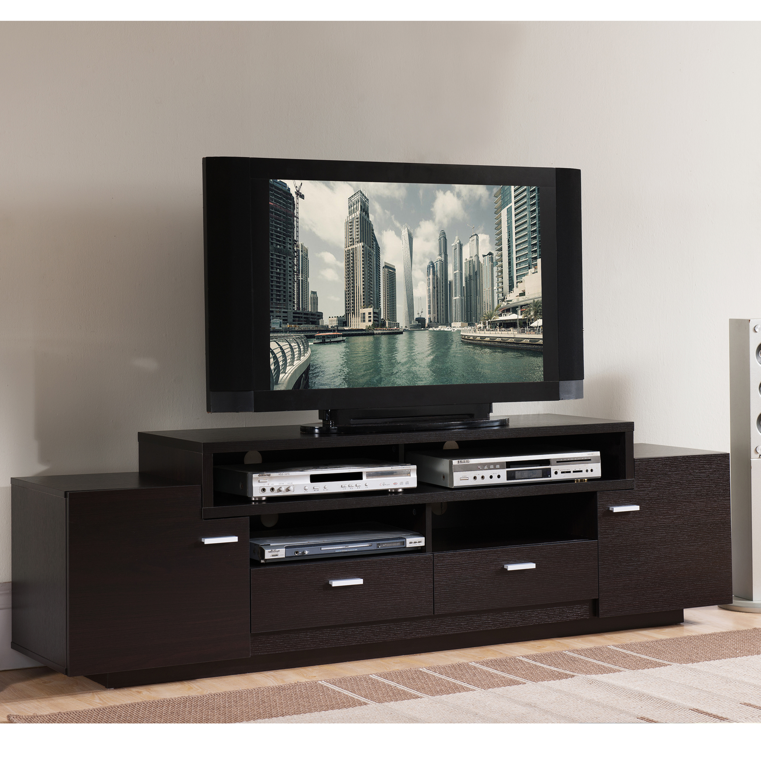 55 Flat Screen Tv Stand Entertainment Center Console Media Storage