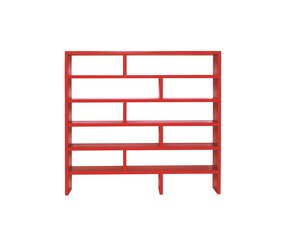 Wrought iron shelving unit