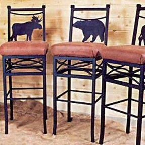 Bar chairs by frontier ironworks share wilderness bar chairs