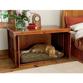 Nightstand dog crate 2