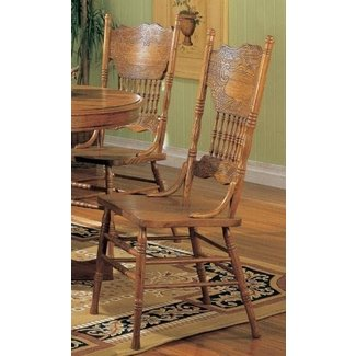 Oak double pressback chairs 1