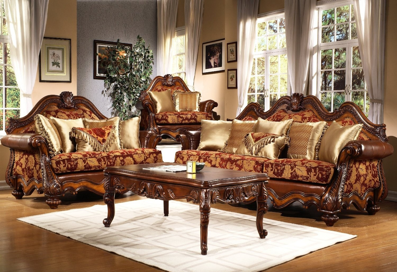 Attirant Victorian Living Room Furniture Set