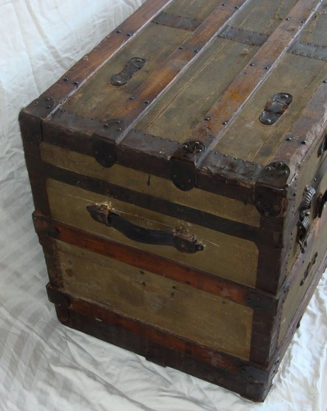 Antique Victorian Steamer Trunk 1890 Antique Furniture Antique Chests
