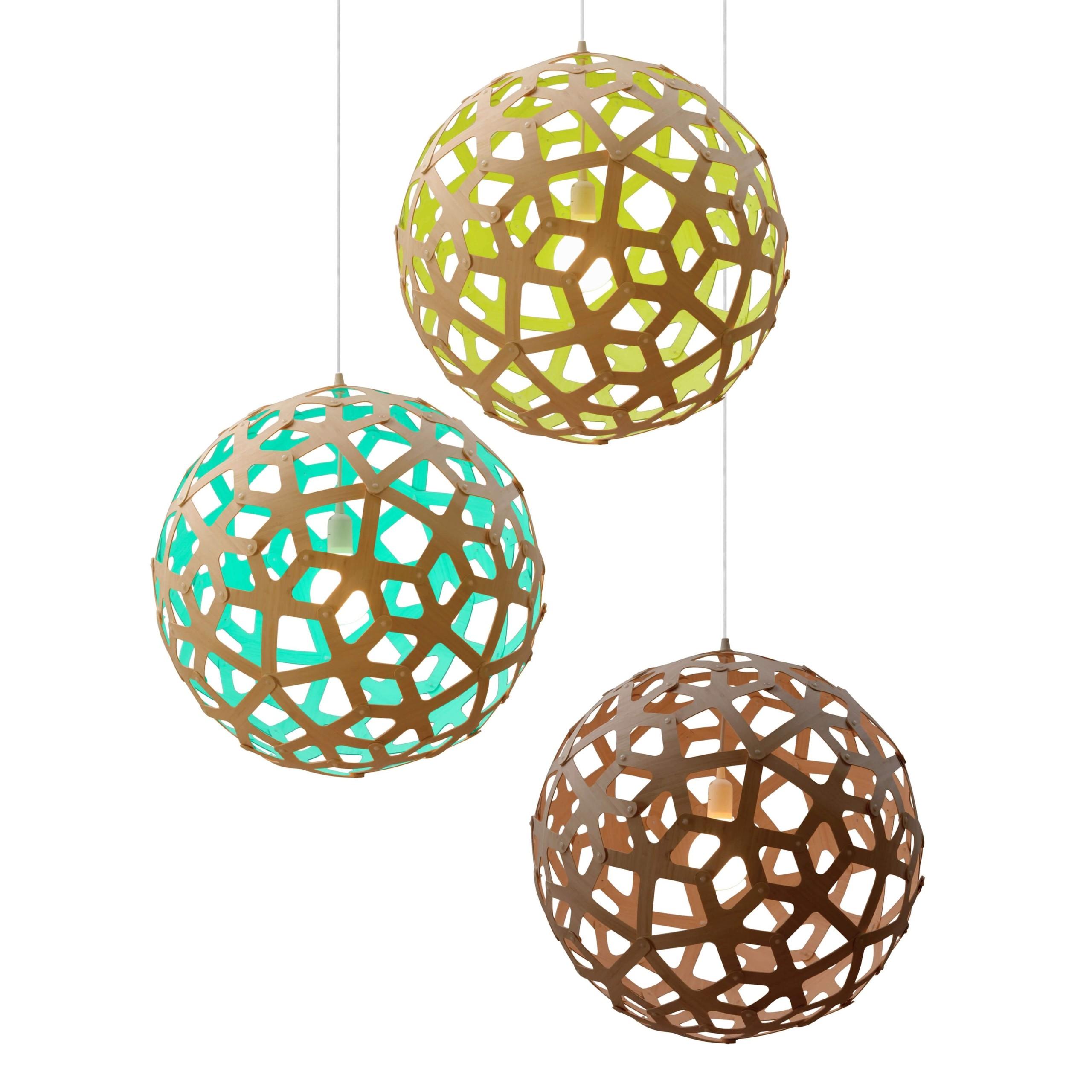 Modern Bamboo Coral Globe Ceiling Light Pendant Lamp Fixture Lighting