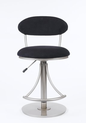 Suede swivel bar stools