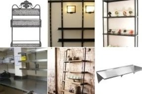Metal wall mounted shelving