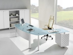 Office desk glass top 1