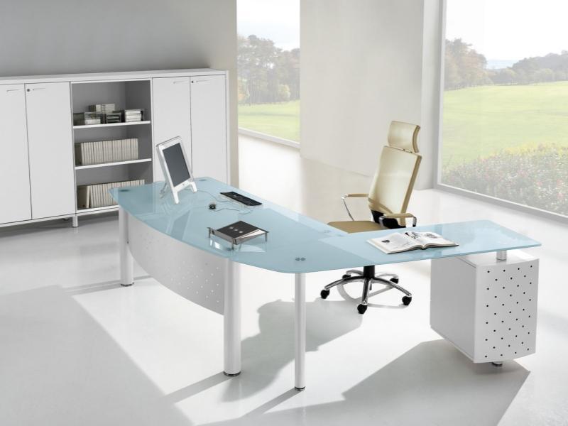 Office Desk Glass Top 1