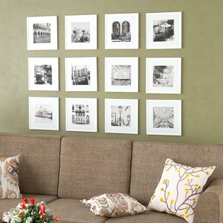 12 Piece Noland Matted Picture Frame Set (Set of 12)