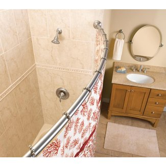 "60"" Curved Fixed Shower Curtain Rod"