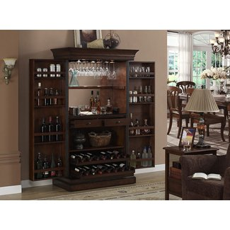 American Style Wood Bar Cabinet with Wine Storage