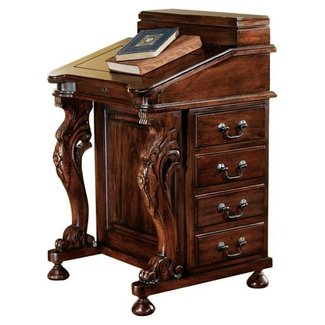 Antique Secretary Desk with a Roll Top