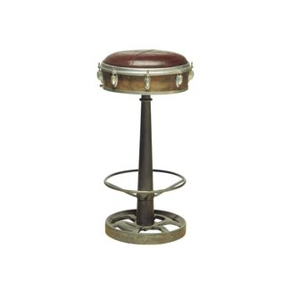 Antique Stylized Drummer Swivel Barstool