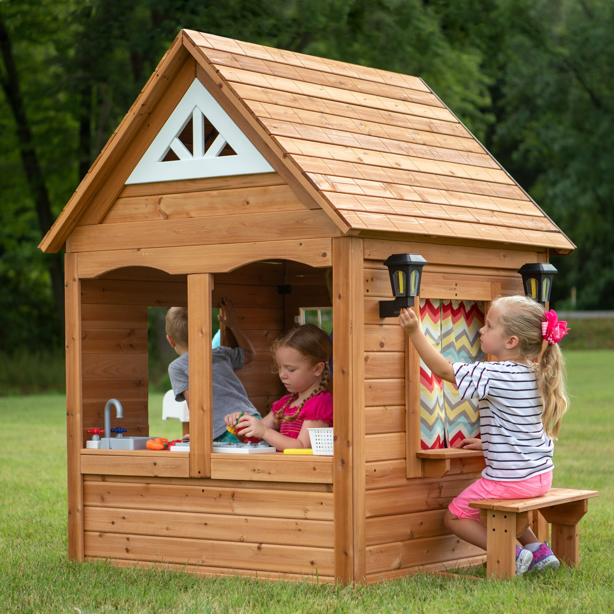 Kids Hunting Cabin Tent Playhouse Indoor Outdoor Play Cottage Sports Toy House