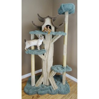 Beige Carpeted Sisal Cat Tree