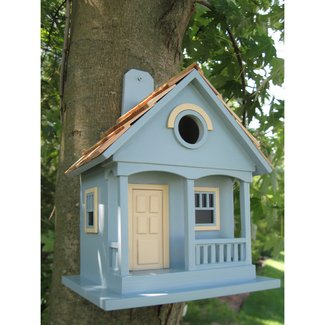 Blue MDF Wood Wall-Mounted Birdhouse