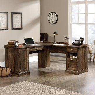 Bowerbank 3 Drawer L-Shaped Executive Desk
