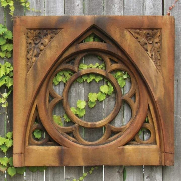 Brown Fiber Stone Oak Leaf Tracery Wall Décor