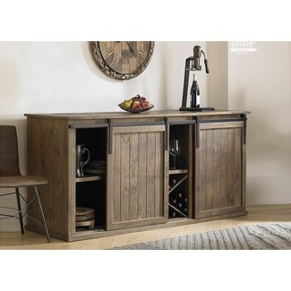 Brown Solid Wood Credenza